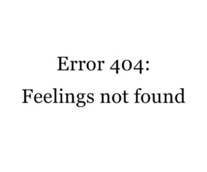 feelings, error, and text image