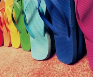 colorful, rainbow, and shoes image