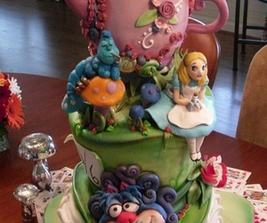 alice in wonderland, cake, and color image