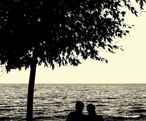 couple, romantic, and sea image