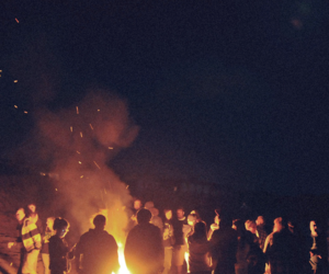 fire, people, and fun image