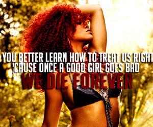 forever, good girl, and Lyrics image