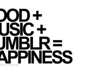 food, music, and happiness image