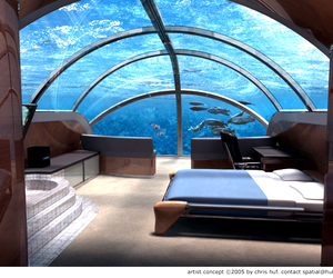 bedroom, sea, and water image