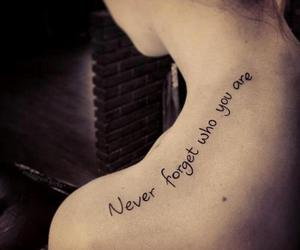 tattoo, never, and forget image