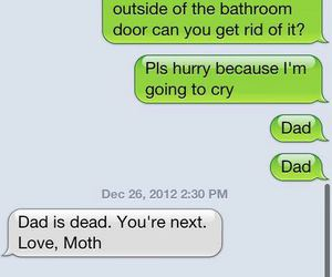 funny, text, and moth image