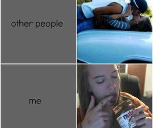 nutella, me, and funny image