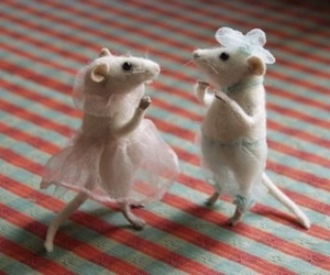 mouse, cute, and dancing image
