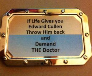 doctor who, edward cullen, and life image