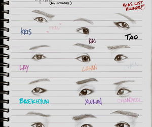 Chen, exo, and eyes image