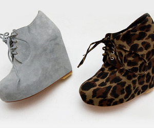 shoes, leopard, and wedges image