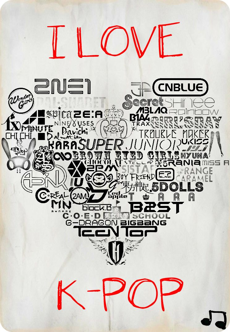 I Love Kpop By Bleachgame On Deviantart On We Heart It