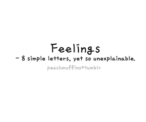 feelings, text, and typography image