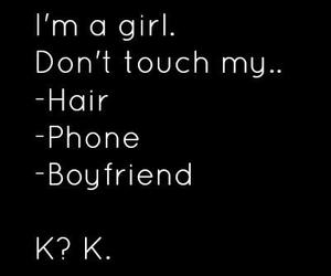 girl, hair, and quote image