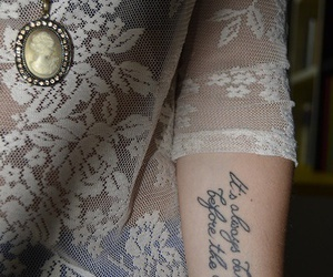 tattoo, quotes, and lace image