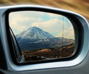 car, landscape, and mountains image