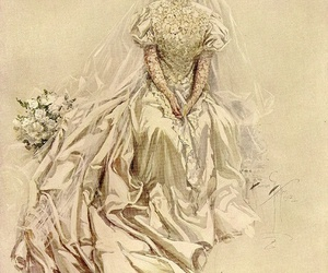 dress, gown, and veil image