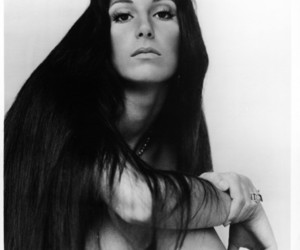 beautiful, black and white, and cher image