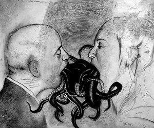 kiss, tentacles, and art image