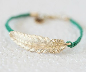 bracelet, feather, and accessories image