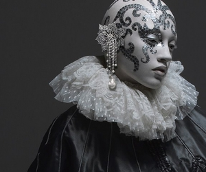 baroque, black and white, and pierrot image