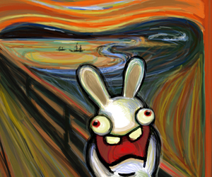 bunny, funny, and scream image