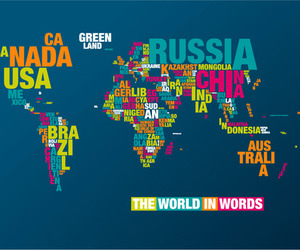 world, map, and words image