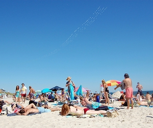 beach, new york, and fire island image
