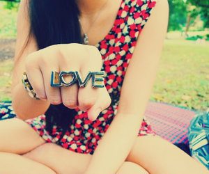 girl, ring, and love image