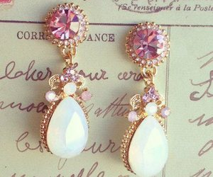 earrings, pink, and jewelry image