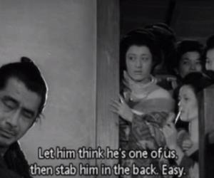 black and white and subtitles image