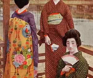 1910s, kimono, and kyoto image