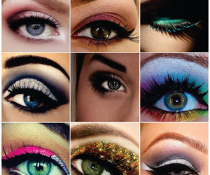 collors, olhos, and make image