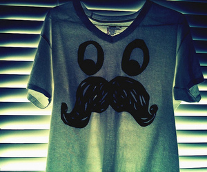 mustache, shirt, and t-shirt image