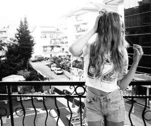 b&w, shorts, and blonde image