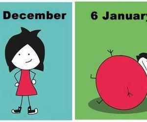 christmas, fat, and funny image