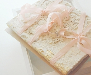 pink, book, and lace image