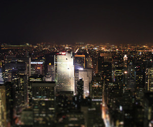 lights, night, and new york image