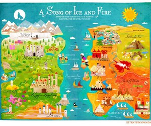 game of thrones, a song of ice and fire, and westeros image