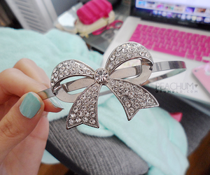 fashion, bow, and diamonds image
