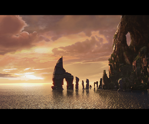 how to train your dragon, sunset, and hiccup image