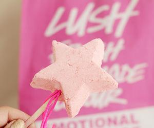 lush, pink, and stars image
