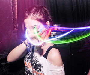 girl, light, and colors image