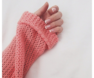 nails, sweater, and pink image