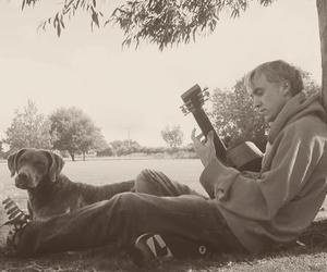 tom felton, draco malfoy, and guitar image