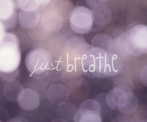 breathe and text image