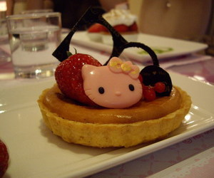 cafe, hello kitty, and HK image