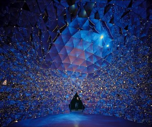 art, blue, and crystal image