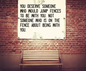 love, quotes, and fence image