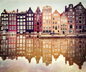 amsterdam, colorful, and Houses image